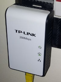 A TP-Link TL-PA211 connected to the wall socket